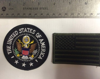 Presidential Seal Patch and Flag Patch