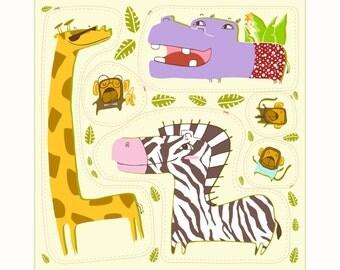 Giraffe Sunbathing