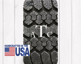 Tire Tread Monogram Personalized Phone Case Your Choice name or Monogram iPhone 6/6S, iPhone 5/5S, iPhone SE, Samsung iPhone7 iPhone 7