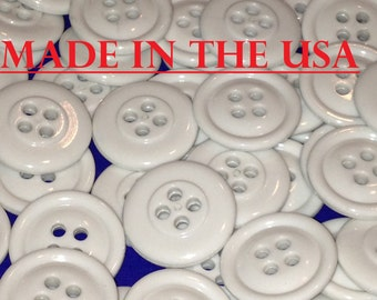 "100 3/4"" Bulk Matching Black or White Buttons White Plastic Buttons 20 mm Bulk White Buttons Wholesale Buttons Lot Button Lot"
