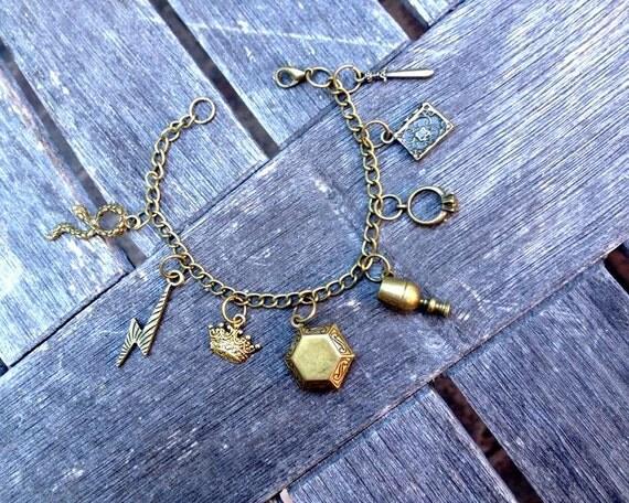 Horcrux Charm Bracelet Horcrux Antique Gold Charm