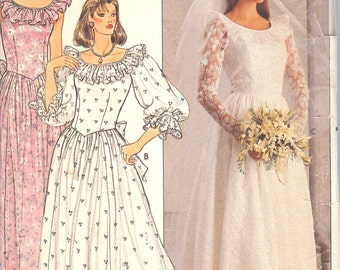 Butterick 3064  Misses' Petite Bridal Dress   ID384