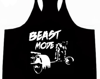 New Beast Mode Deadlift Mens BodyBuilding Mens / Stringer / Singlet / Vest / Racerback