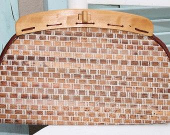 Vintage Wooden Clutch