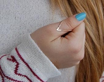 thumb ring - ring - V ring - chevron ring - thumb - Silver v ring - silver thumb ring - gold thumb ring - thumb ring gold