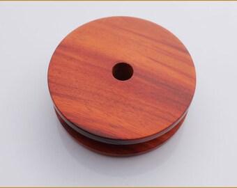 Wood Earbud Holder - Earphone Organizer - Red sandalwood