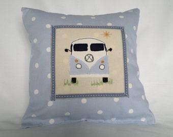 VW Camper Cushion. Blue