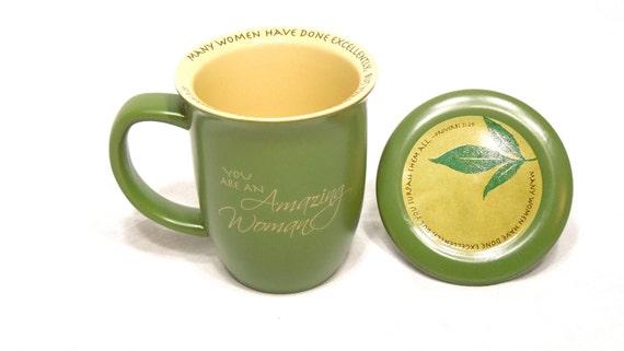 Coffee Mug Dark Green 39 You Are An Amazing Woman 39