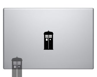 Tardis Dr Doctor Who Vinyl Sticker Laptop Macbook Mac Air Apple