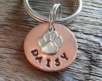Small Dog Tag  / Personalized Pet ID Tag / Cat Tag / Unique Pet ID Tag / Pet Tag / Pet ID Tag / Custom Hand Stamped Pet Accessories