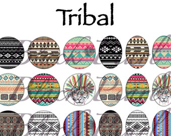 Tribal - Page digital images for cabochons - 60 images