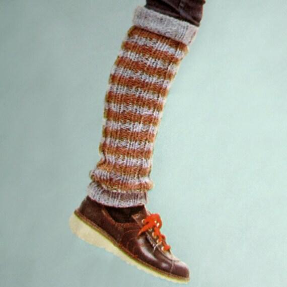 LEG WARMERS PDF Knitting Pattern Three Slim Styles in Rib