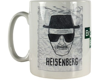 "Breaking Bad Coffee Mug "" Heisenberg Wanted ""  11 OZ Full Color Mug"