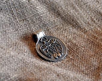 """Silver Russian pendant """"Falcon"""""""