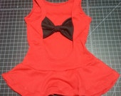 Peplum shirt with opening and bow on the back !!!  **to choose fabric please go to our fabric options category**
