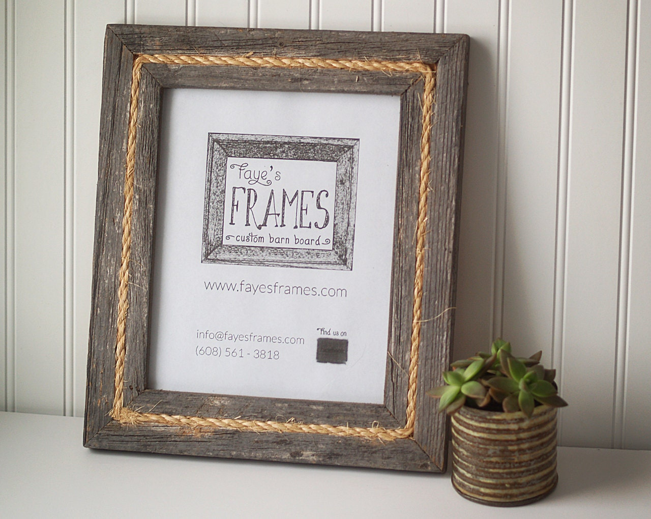 8x10 Reclaimed Barn Board Frame Single Style with by ...