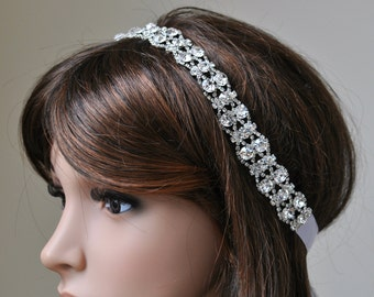 Wedding headpiece, headband, GABRIELLA, Rhinestone Headband, Wedding Headband, Bridal Headband, Bridal Headpiece, Rhinestone