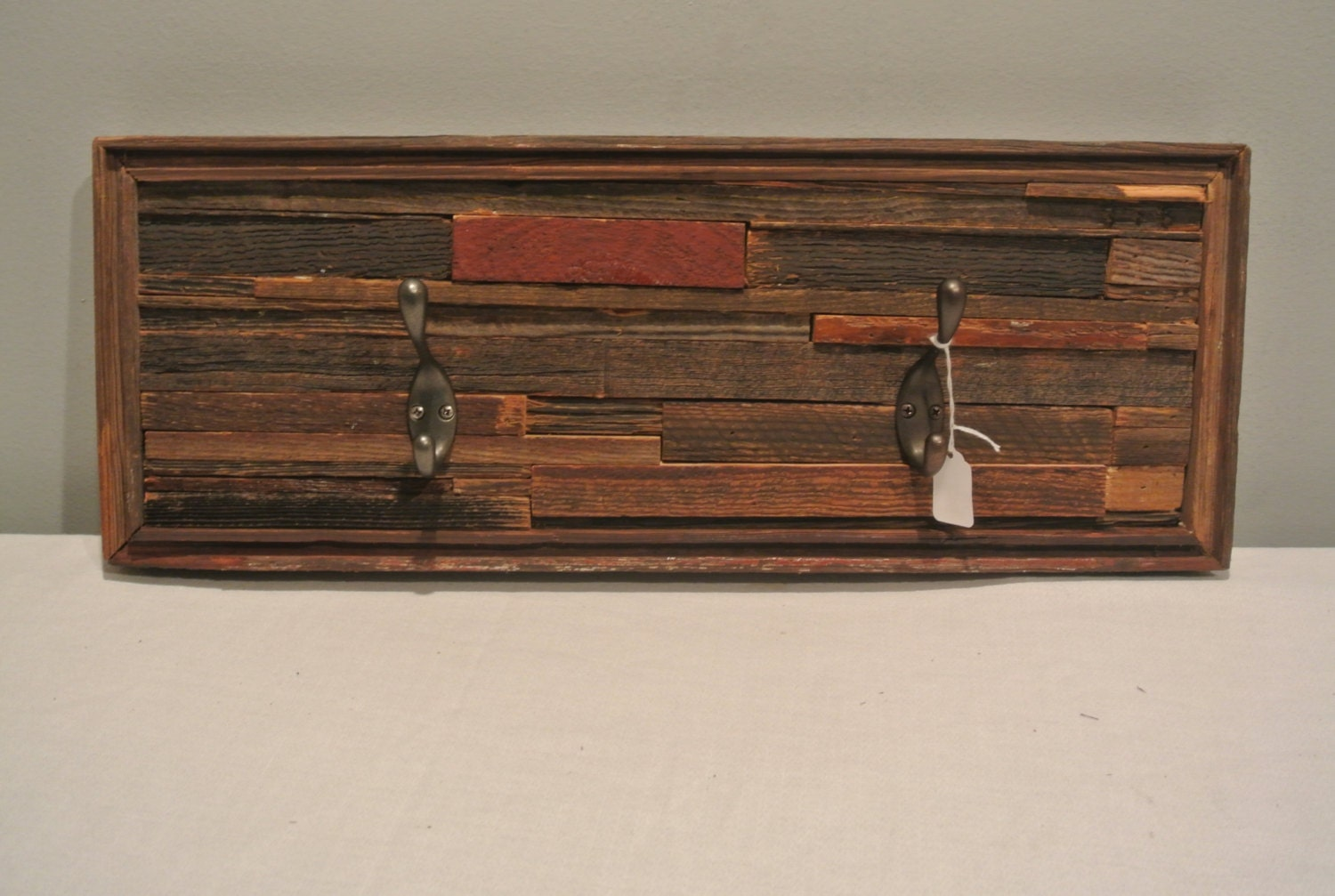 Custom Made Barn Wood Coat Rack Hanger With By TMBarnWoodDesigns. Full resolution‎  snapshot, nominally Width 1500 Height 1007 pixels, snapshot with #935E38.