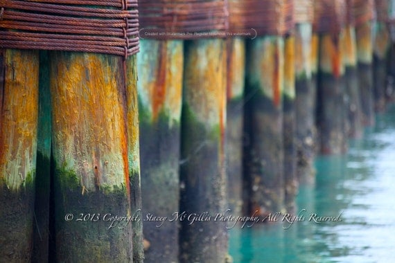 Nautical Photograph - Sea Stained Dock - Fine Art Photography - Ocean Home Decor