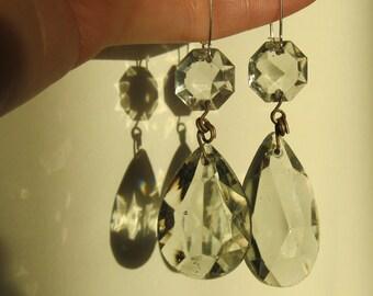 Something Old, Something New - crystal bridal earrings #6