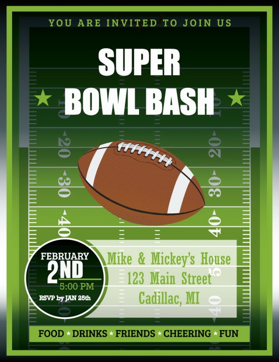 It's just a picture of Vibrant Super Bowl Party Invitations Free Printable