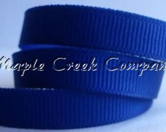"5 yards Royal Blue Grosgrain Ribbon, 4 Widths Available: 1 1/2"", 7/8"", 5/8"", 3/8"""