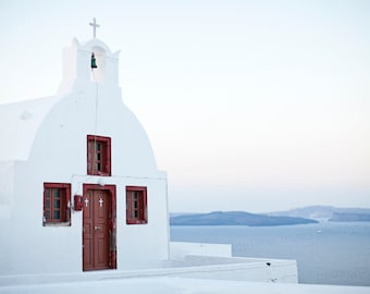 Oia Santorini Greece, Greek Church Santorini, Santorini Island Photo, Greece Travel Photography, 8x10 Photo, Art Decor