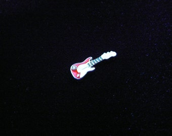 Red Electric Guitar floating charm fits Origami Owl lockets