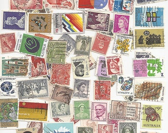 Vintage Australia Postage Stamps 100 all different collectable