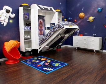 Spaceship Bed, Childrens Bed for Astronaut Theme Room