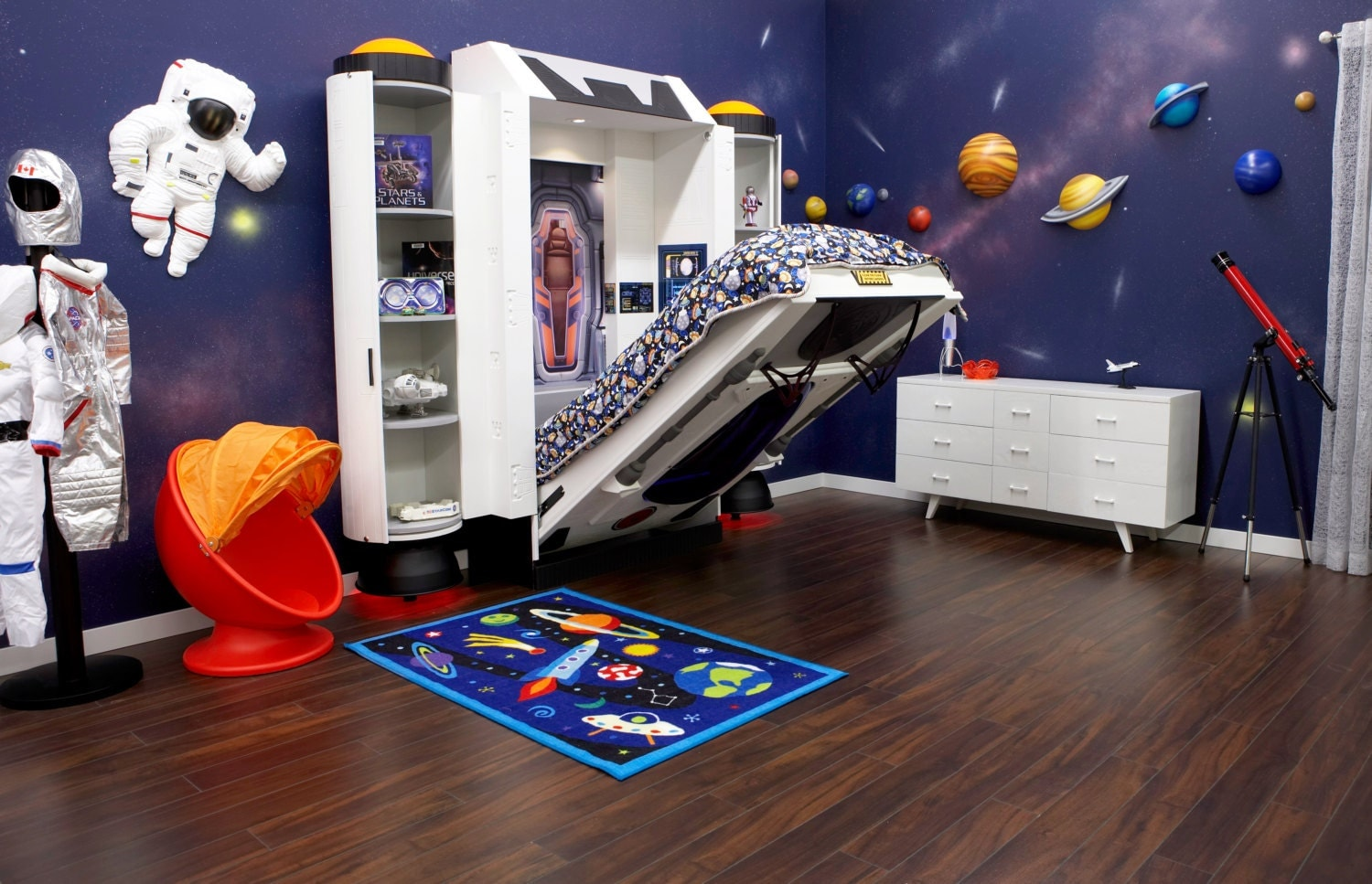 Outer Space Bedroom Decor Spaceship Bed Childrens Bed For Astronaut Theme Room