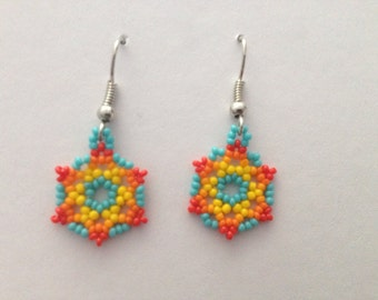 Small Handmade Native American Beaded Earrings