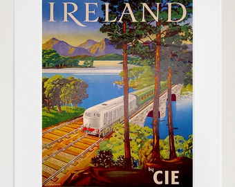 Art Ireland Travel Print Irish Vintage Poster (TR154)