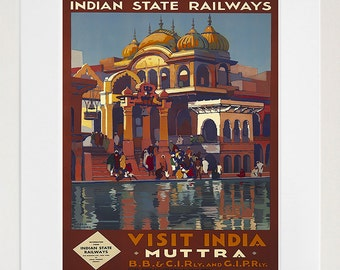 India Travel Art Poster Muttra Print Home Decor (XR189)