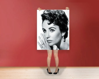Elizabeth Taylor Wall Art Print Hollywood's Golden Age Most Famous Film Stars Photo