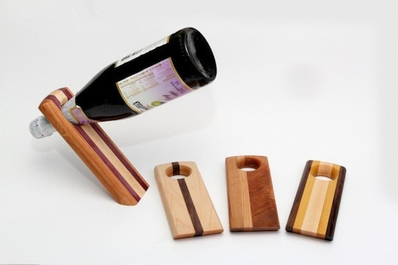 Magic balancing wine bottle holder - Wine bottle balancer plans ...