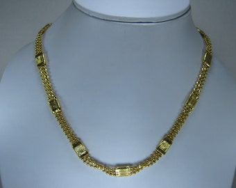 Sale - Faceted Beads 3 Strands Necklace