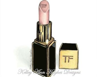 Tom Ford Lipstick Illustration