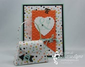 Greeting card and treat holder