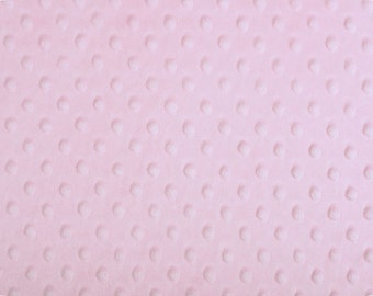 Baby Pink Cuddle Minky Dot Fabric  (Shannon Fabrics) Light Pink