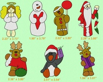 28 Christmas Embroidery Design Files 4x4, finger puppets & ornaments