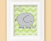 Wild Jungle Elephant Print