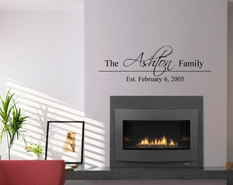 Family Established Vinyl Wall Decal