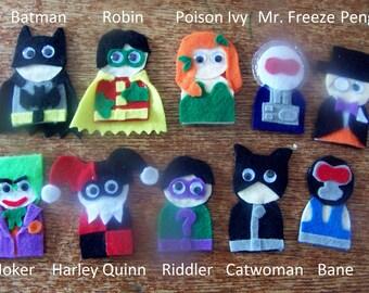 Batman Finger Puppets Pattern & Tutorial