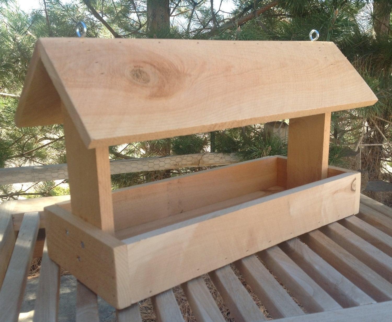 Cedar wood bird feeder for Homemade bird feeder plans
