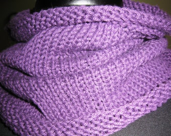 Mulberry Cotton Hand Knit Cowl, Cotton Cowl, Cotton Neck Scarf