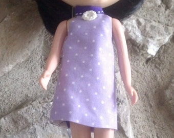 Reversible Dress for Blythe Purple Argyle and Polka Dots
