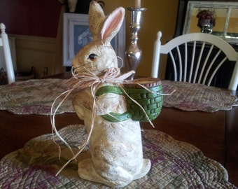 "Sweet Bunny with Basket ......3 1/2"" wide and 11"" tall"