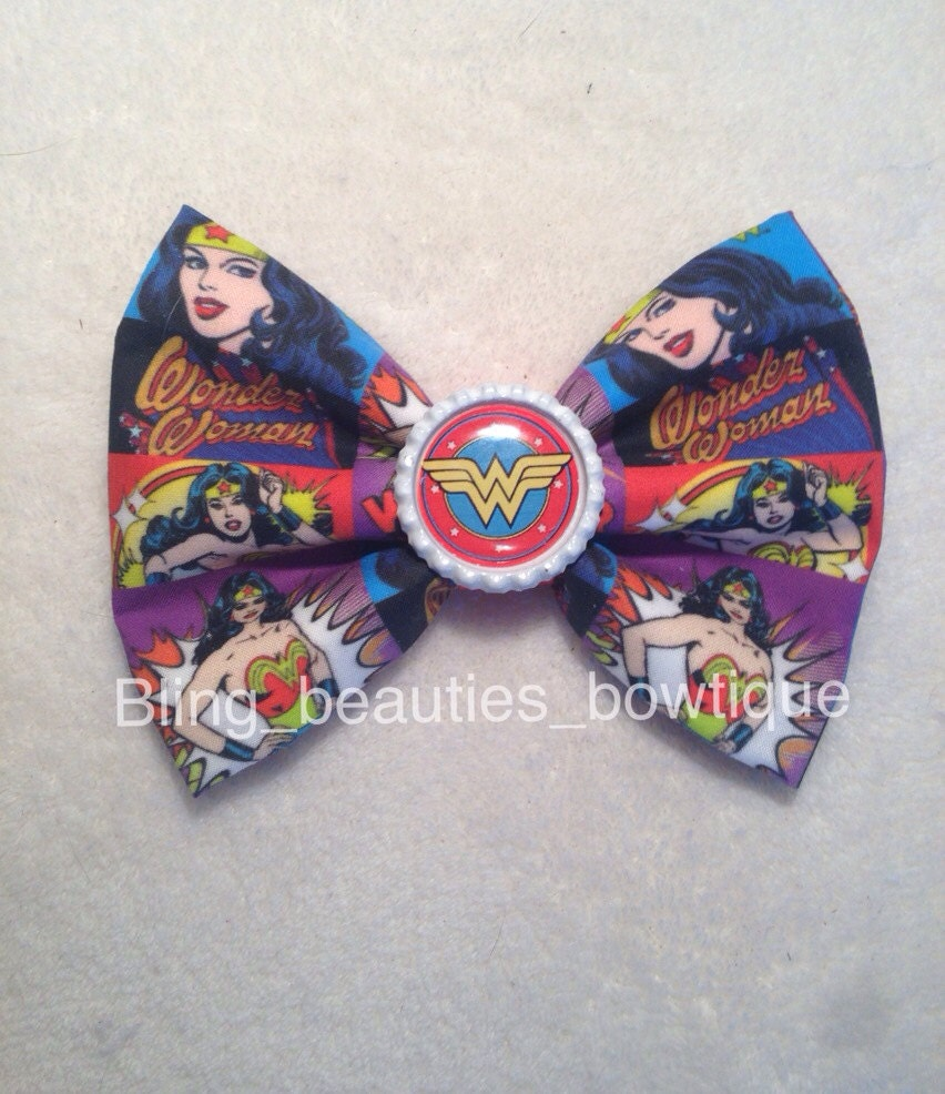 Wonder Woman Hair Bow By BlingBeautyBowtique On Etsy