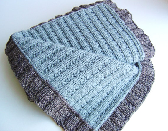 Knitting Pattern Mock Cable Baby Blanket Easy Knit Lap